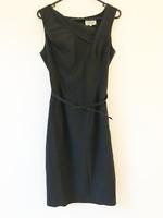 Veronika Maine Black Work Dress Size S Women's Sleeveless Business Ladies Belt