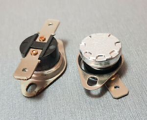 KSD301 90°C N.O. (Normally Open) Thermostat Switch 10A 250V AC Pack of 2