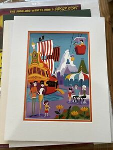 Disney WonderGround Disneyland Morning in The Magic Kingdom Print Shag New