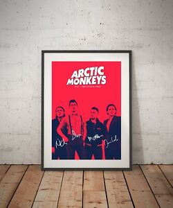 Arctic Monkeys signed REPRINT poster  - A3 A4 A5 SIZE
