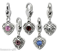 Wholesale Lots HX Mixed Love Heart Clip On Charms Fit Chain Bracelet