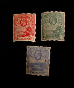 St Helena 1922 Set of Three SG 89-91 (Mint)