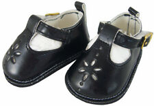 For Bitty Baby + Twins Doll Clothes Black T-Strap Shoes Sandals Accessories