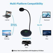 Desktop Microphone, USB Computer Microphone with Mute Button & Volume Knob