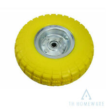 More details for 1 x puncture burst proof solid rubber sack truck trolley cart wheels spare tyres