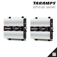2 Taramps Tl 1500 2 Ohms Amplifiers 390 Watts 3 Channel Car Amp - 3 Day Delivery