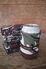 LOT of 12 CAMO Camoflauge Can Huggies Beer Soda Coolers Printable