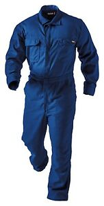 NEW Tecgen SELECT 5.5oz Deluxe FLAME Resistant FR Coverall BLUE 3XL