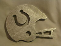 Colts Helmet laser cut out metal ornament paperweight NFL Football sign decor