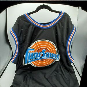 Size XL, Bugs Bunny Tune Squad, White Stitched Basketball Jersey With Bracelets