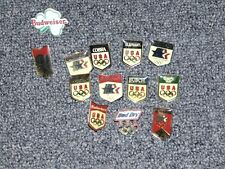 BUDWEISER BEER OLYMPIC PIN COLLECTION