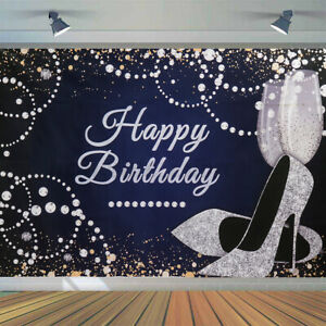 Lady Queen Theme Happy Birthday Banners Backdrop Party Photography Background