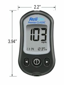 New in Box Relione Premier Classic Glucose Monitor with 25 Test Strips Included