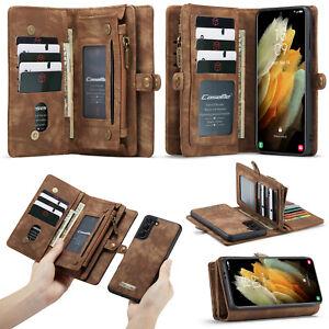 For Samsung S21 S20 FE A21S Note 20 A51 A71 A20 A50 S9 Leather Wallet Phone Case