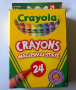 Crayola 8 OR 24 Assorted Wax Crayons Colouring Crayons 0008 and 0024