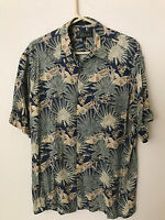 CROFTC&BARRO100% Rayon Short Sleeve HAWAIIAN TROPICAL Shirt Size M