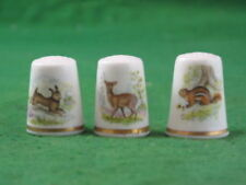 Royal Worcester China Animals/Birds Collectable Sewing Thimbles