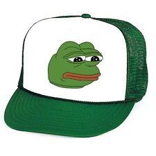PEPE THE FROG Meme Trucker Cap Hat snap back green retro
