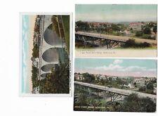 3 Bethlehem Pa Early 1900s Postcards: Broad Street Bridge