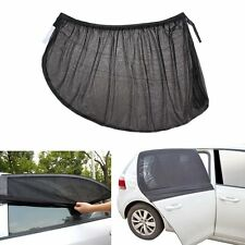 2pcs Car Sun Shade Cover For Rear Side Window Provides L Size UV Protection Mesh