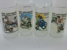 Vintage lot 4 Norman Rockwell The Saturday Evening Post 1920s Glasses Promotion