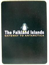 1 x playing card single swap Falkland Islands Gateway to Antarctica with penguin