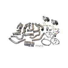 Twin Turbo Header Kit For 63-67 Chevrolet Chevelle Nova SBC V8