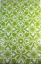 Fleur De Lis Vinyl Umbrella Tablecloth w/Whole & Zipper Green 52 x 70 Oblong