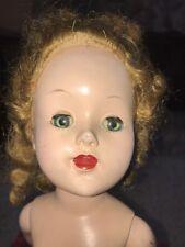 "Vintage 18"" Tall Hard Plastic Walker Doll Sleep Eyes, Wig Saucy Walker??"