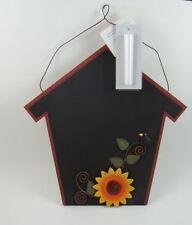 Chalkboard Message Board Center Photo Notes Bills Picture Holder House Sunflower