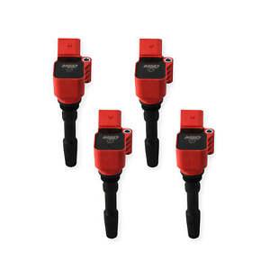 MSD Ignition Coils Blaster Series 2014-2019 VW/Audi 4 Cylinder, Red 4-pack 87164