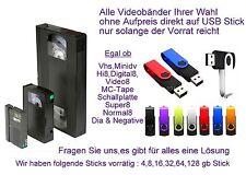 20 Bänder Hi8 Minidv VHS-C digitalisieren im mpg4 Format auf USB Stick inkl.