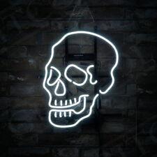 White Color Skull Shape Handcraft Vintage Pub Bar Beer Art Bontique Shop Bedroom