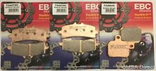 KTM RC8 / R (2008 to 2016) EBC Sintered FRONT and REAR Disc Brake Pads (3 Sets)