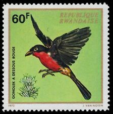 """RWANDA 465 (Mi508) - African Birds """"Red-headed Gronolek"""" (pa48741)"""