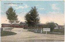 Penn Station in Winona Lake IN Postcard 1919