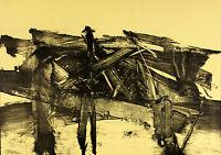 Mattia MORENI - Composizione n. 6 - 1960 - rara litografia originale firmata -