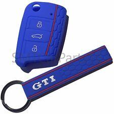 VW Volkswagen Golf Polo GTI Llavero Llavero con estuche llave que empareja en Azul