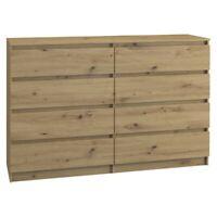 Kommode mit 8 Schubladen 140cm Sideboard artisan Anrichte holz