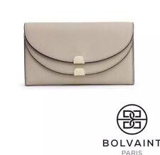 Authentic Bolvaint - Aimee Foldover Wallet Clutch Purse in Ecru Tan - NEW!