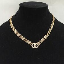 Rhinestone Necklace Goldtone Chain Christina Collection Wedding Fashion Jewelry
