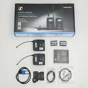 Sennheiser EW 112P G4 Wireless Broadcast Lavalier Mic Sets - Black - Used x 2