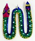 Snake Hand-Punched Tin Ornament Southwest Style Colorful Mexican Folk Art