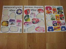 3 Diddl Stickerbögen: Weihnachtsgrüße, Geschenkaufkleber, ohne Bezeichnung