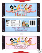 12 Princess Birthday Party Favors Personalized Candy Wrappers
