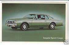 1979 CHEVROLET IMPALA SPORT COUPE Car Dealer POSTCARD