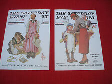 1932 THE SATURDAY EVENING POST  CARD SUBSET COMIC lithograph CPC/DAC  NY