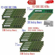 16GB 8GB 4GB 2GB DDR2 533 667 800MHz PC2 Desktop RAM Memory New For Samsung LOT