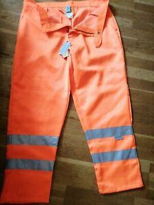 Wearmaster 3M Scotchlite Reflective Orange Work Trousers 40R