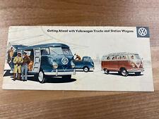Vintage Volkswagon Vw Pick Up Trucks and Station Wagon Brochure/Advertising-Nice